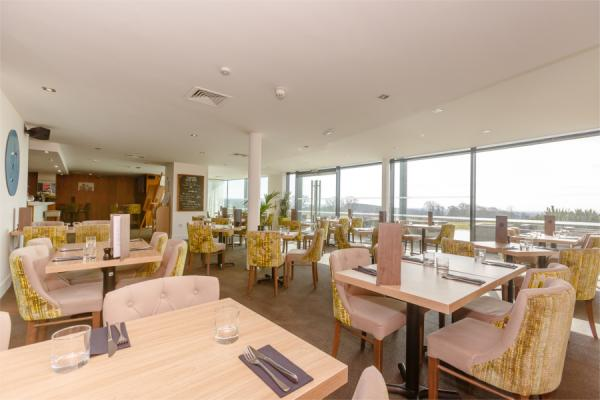 Glasshouse Restaurant with views of Yorkshire Wolds