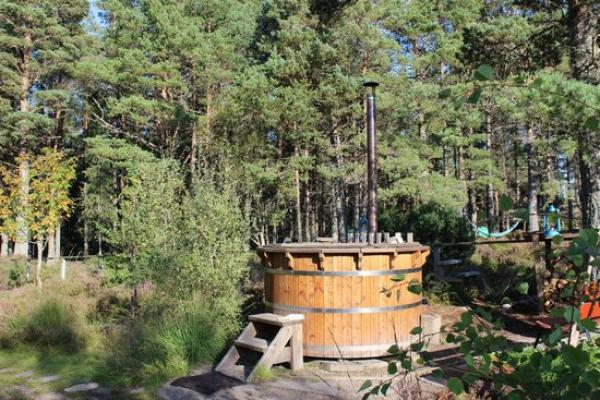the hot tub at Lazy Duck