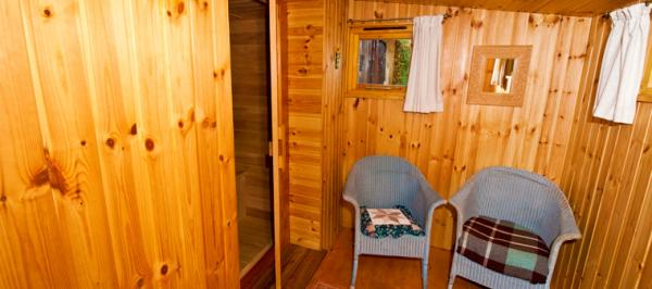 dry heat sauna at The Ducks Nest