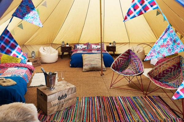 Vintage England Bell Tent for group bookings