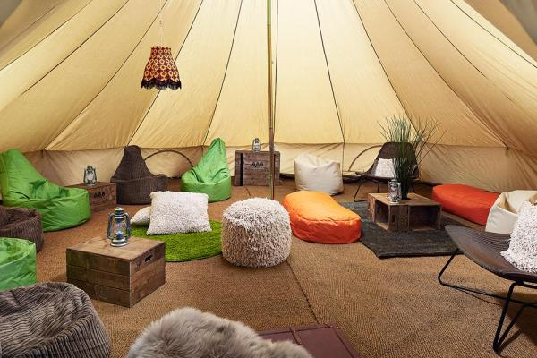 Chill Out Bell Tent available free with group bell tent bookings