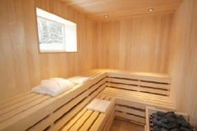 sauna at Clover Spa