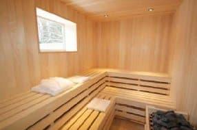 sauna at Clover Spa