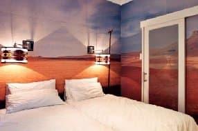 artist designed hotel room