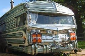 retro chrome exterior of wagon