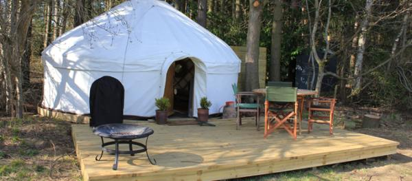 decking by yurt
