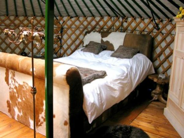 interior of yurt near Malaga