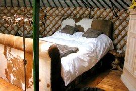 interior of yurt near Malaga