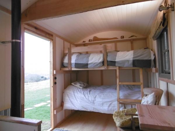 Interiors of the hut