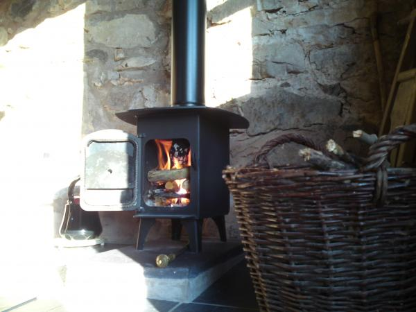 Woodburning stove inside the Stable can be used for cooking