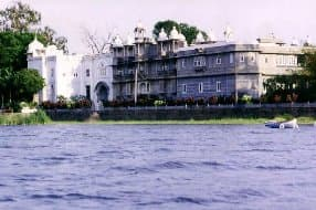 view of palace hotel from lake