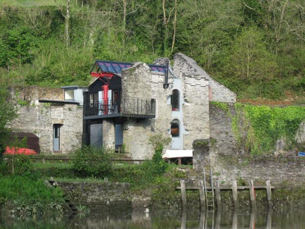 modernised old building at the waters edge