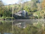 boathouse on the riverbank
