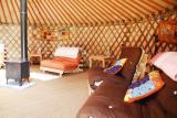 tangerine tones of Shakti Yurt