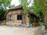 Rustic wooden lodge