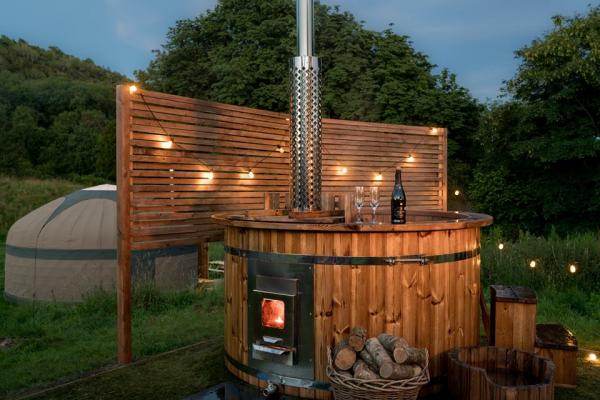 yurt stay with hot tub