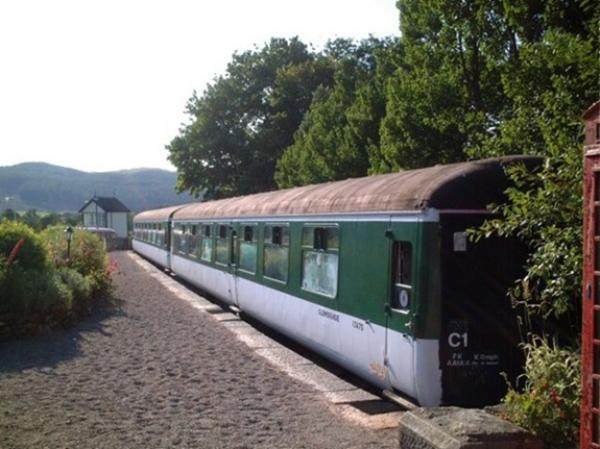 train carriage hostel