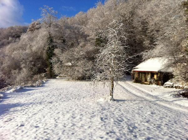 Winter wonderland at Okel Tor Mine