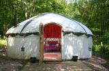 comfortable yurt in woodland