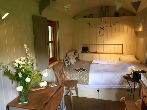 Interior shot cosy Hut Eyam