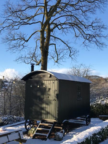 Winter at The Hut Eyam