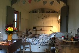 interior shot of cosy Hut Eyam