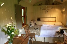 Interior shot cosy Hut Eyam