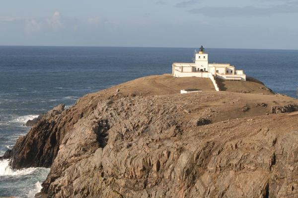 the lighthouse at Strathy Point