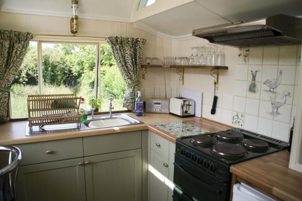 kitchen in Green Wagon