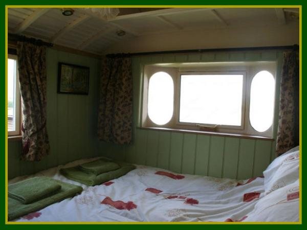 the wagons main bedroom