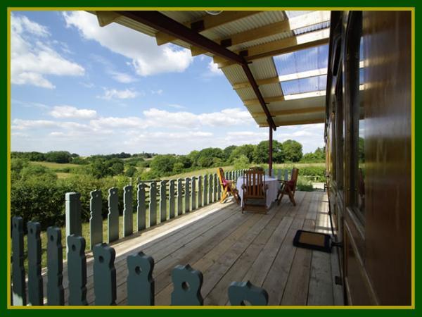 veranda with country views