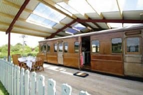 view to Victorian railway carriage