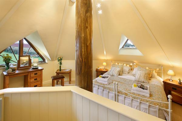double bed in the roof