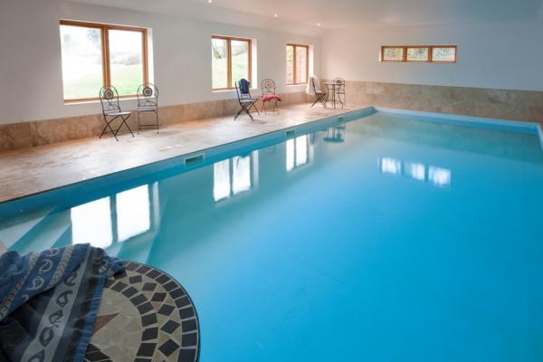 indoor pool for use in the afternoon