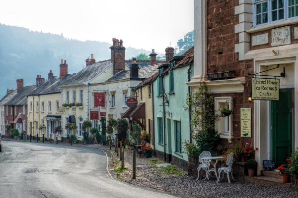 The Medieval Castle And Village Of Dunster