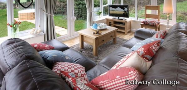 sitting room at Railway Cottage