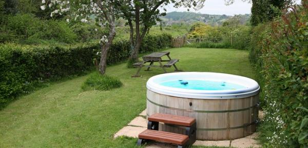 hot tub at property