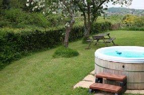 hot tub at property