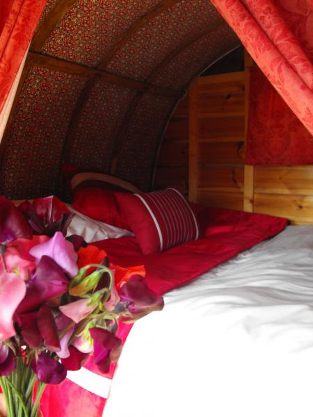 bed in romany caravan