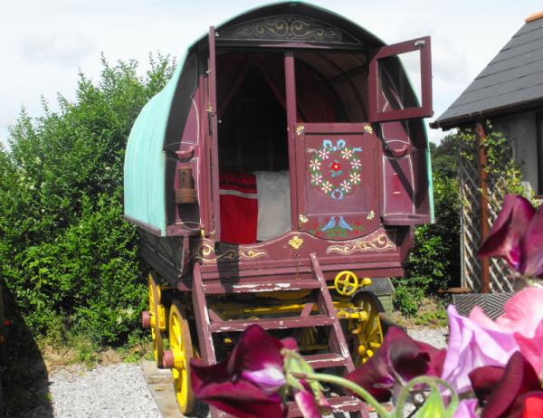 colourful wagon accommodation