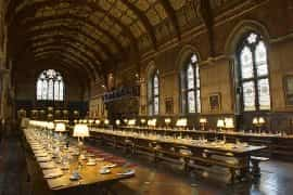 the long dining hall