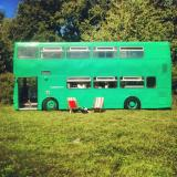 quality glamping on Big Green Bus