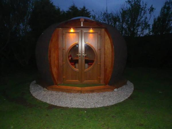 The Eye Pod at night