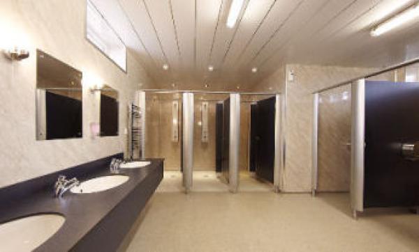 impressive bathroom facilities