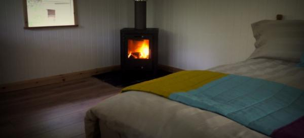 cosy interior with woodburner