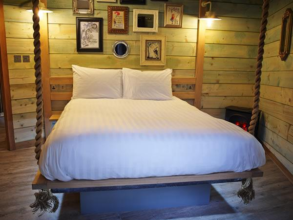 bedroom in the treehouse