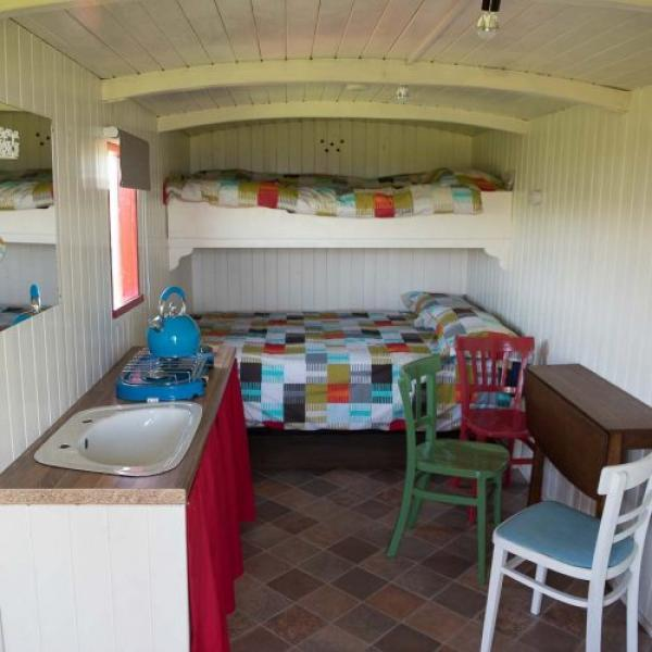 Harvest Hut interior