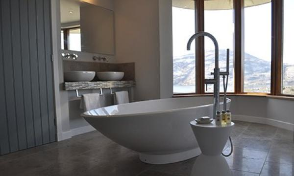 beautiful bathroom with views
