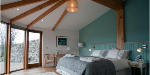 spacious light bedroom