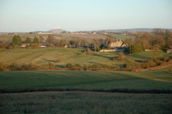 Glebe House from across the valley